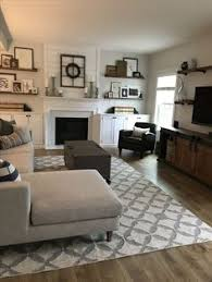 this living room was updated with fresh white shiplap a rustic