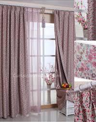 wildlife blackout print toile rose cheap modern curtains