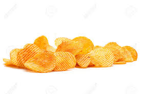 ripple chips potato ripple chips snack isolated on white stock photo picture