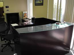 Reception Desk Glass New L Shape Reception Desk W Glass Top