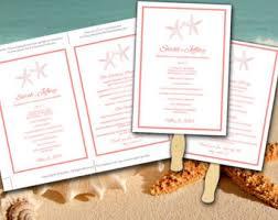 diy wedding program wedding fan template diy ceremony program