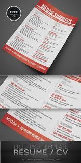 free resume cv psd template u2039 psdbucket com