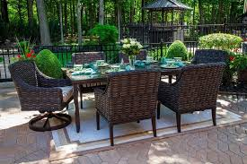 All Weather Wicker Patio Chairs Cassini Collection All Weather Wicker 6 Person Patio Furniture