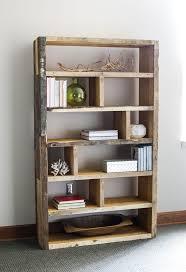fabulous img for narrow rustic bookshelf kohlmr crates in rustic