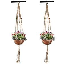 plant hangers for hanging baskets indoor pemotech 2 pack macrame