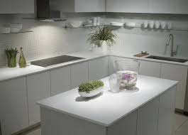All White Kitchen Cabinets L Shape White Kitchen Decoration Using White Modern Kitchen