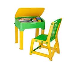 nilkamal apple junior u0027s study table set green and yellow amazon