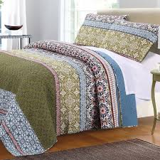 geometric pattern bedding amazon com boho bohemian quilt set with shams geometric pattern