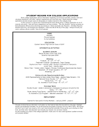 Resume Activities Examples Resume For College Application Sample Sample Resume And Free
