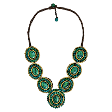handmade statement necklace images Shop handmade tribal circles malachite statement necklace jpg