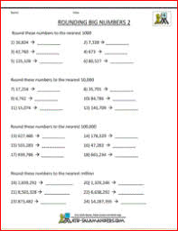 free rounding worksheets 4th grade 4th grade math worksheets reading writing and rounding big numbers