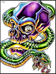 skull and snake design by cakekaiser on deviantart