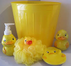 Amazon Bathroom Accessories by Amazon Com 5 Piece Bathroom Accessories Yellow Duck Lotion