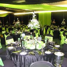 black and white wedding decorations white and green wedding theme ideas dreams me