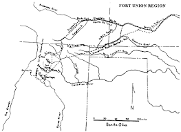 Route 66 New Mexico Map by Fort Union Nm Fort Union And The Frontier Army In The Southwest