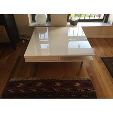 White Coffee Tables by Ikea Tofteryd High Gloss White Coffee Table Aptdeco
