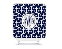 custom personalized shower curtain chevron and anchor frame