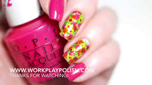 easy flower garden nail art with opi colorpaints blendable nail