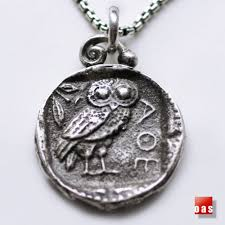 owl necklace silver images Silver athena 39 s owl tetradrachm coin pendant necklace quot thumper jpg