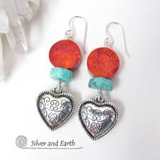 mothers day jewelry heart themed jewelry s day jewelry silver and earth
