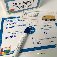 Working Backwards Problem Solving Worksheet Hands On Maths Tool Box In The Classroom Teach Starter Blog