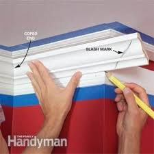 How To Fit Cornice To Ceiling How To Install Crown Molding Family Handyman