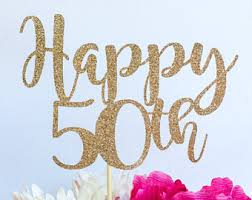 50th cake topper 50 cake topper etsy