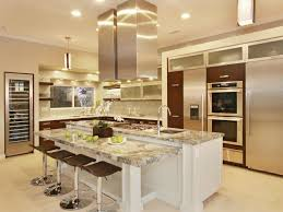 extravagant kitchen design layout with shiny furniture styles