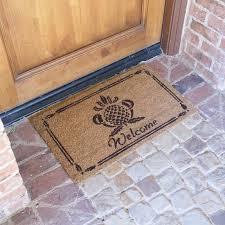 Welcome Doormats Rubber Cal Inc Pineapple Welcome Doormat U0026 Reviews Wayfair