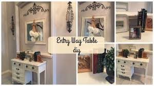 entry way table diy french country style youtube