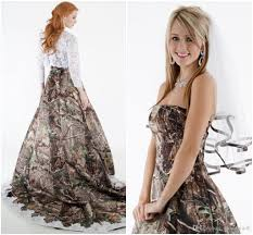 2015 lace camo wedding dresses strapless with hollow lace top long