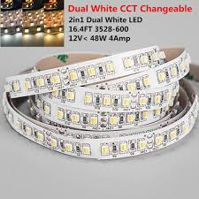 led ceiling strip lights 12vdc u003c48w 4amp 16 4feet 5meter per roll smd3528 600 2in1 dual