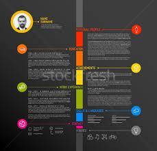vector timeline minimalist cv resume template vector