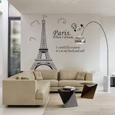 bedroom home decor removable paris eiffel tower art decal wall