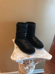 s ugg australia black boots ugg australia black sparkle boot 3161 womens 7