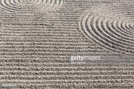 zen garden stone garden in spiral stock photo getty images