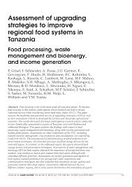 assessment of upgrading strategies to improve regional food