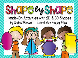 learn 2d and 3d shapes is a happy place