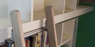 Sliding Bookshelf Ladder Rolling Ladders T U0026i Solutions