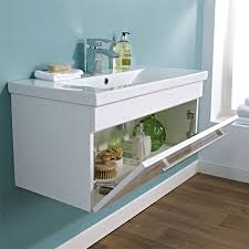 bathroom storage wall hung vanity unit cloakroom cabinet dropdown