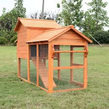 Chicken Coop Kit Aosom Pawhut Deluxe Backyard Chicken Coop W Outdoor Run