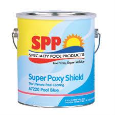 in the swim super poxy shield epoxy swimming pool paint dark blue