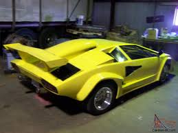 yellow lamborghini countach countach replica tube frame 455 olds