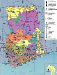 Ghana Africa Map Detailed Administrative Map Of Ghana Ghana Detailed