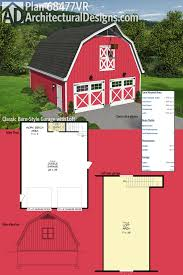 Barn Style Garage by Plan 68477vr Classic Barn Style Garage With Loft Cars