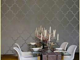 dining room moroccan trellis wallpaper pictures decorations