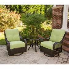 Patio Swivel Rocker Chair by Hanover Orleans3pcsw Orleans 3 Piece Patio Set With 2 Swivel