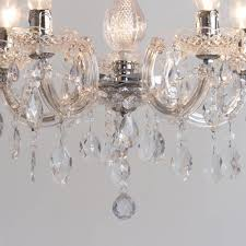 Marie Chandelier Marie Therese Chandelier 5 Light Dual Mount Chrome From Litecraft