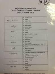 p2 physics equation sheet aqa bbs revision