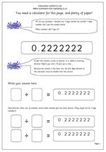 year 6 maths worksheet calculator patterns maths blog